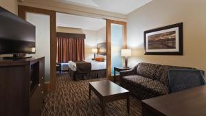 Телевизор и/или развлекательный центр в Best Western Plus Bridgewater Hotel & Convention Centre