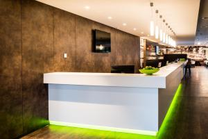 The lobby or reception area at Travel24 Hotel Leipzig City