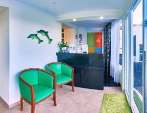 The lobby or reception area at Alojamento Bela Vista