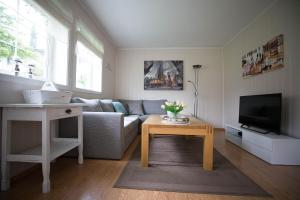 A seating area at Apartment at Ranheim