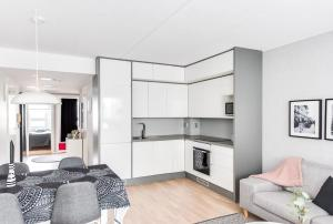 Majoituspaikan Apartment Pohjanpoika keittiö tai keittotila