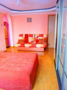 Кровать или кровати в номере Апартаменты на Ленина 26