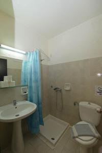 Salle de bains dans l'établissement Ialysos City Hotel