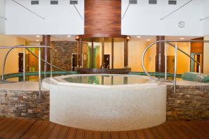 A bathroom at Hotel Patria