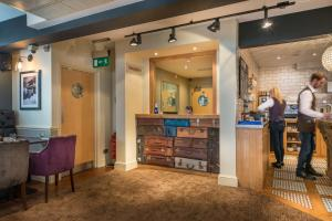 The lobby or reception area at The Golden Lion Hotel, St Ives, Cambridgeshire