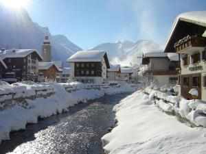 Pension Hartenfels during the winter