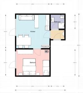 The floor plan of Landhaus Schmitte