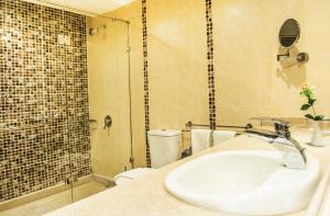 A bathroom at Old Vic Sharm Resort Families and Couples Only