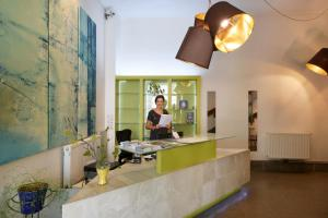 The lobby or reception area at Hotel Mocca