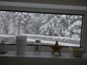 Ferienhaus Bergidylle during the winter