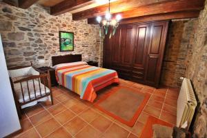Cama o camas de una habitación en Casa A Quintela
