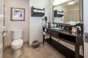 A bathroom at Hampton Inn & Suites Montgomery-Downtown