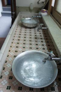 A bathroom at Miyoshiya Ryokan