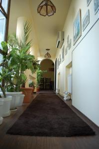 Zona de hol sau recepție la Vila Monica