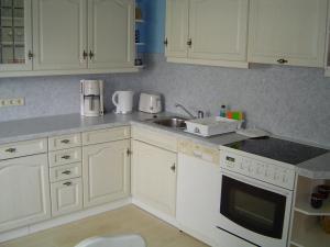 Küche/Küchenzeile in der Unterkunft Ferienwohnung Fischer