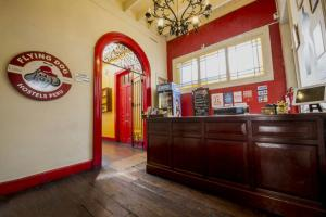 The lobby or reception area at Flying Dog Hostel