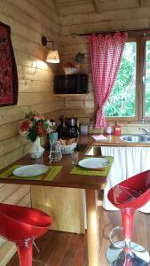Cuisine ou kitchenette dans l'établissement Les Terrasses de Niagara