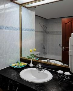 A bathroom at Phnom Penh Hotel