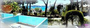 Vue sur la piscine de l'établissement Apartamentos Petit Blau ou sur une piscine à proximité