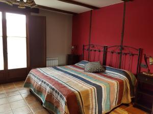 Cama o camas de una habitación en Hotel Rural El Horno de Aliaga
