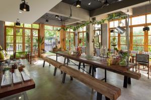 曼谷漢莎府住宿加早餐旅館餐廳或用餐的地方