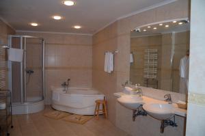 Ванная комната в Олимп Отель