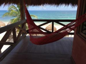 A balcony or terrace at Hotel Calaluna Tulum-Adults Oriented