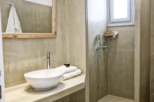 A bathroom at Orkos Beach Hotel