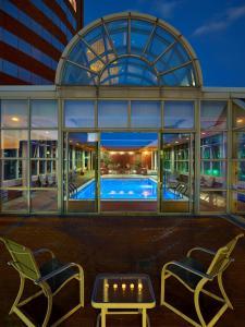 The swimming pool at or near Hyatt Regency Cincinnati
