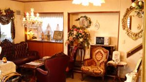 The lobby or reception area at Pension Puppy Tail