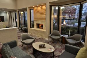 A seating area at Courtyard Montgomery