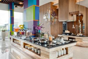 A restaurant or other place to eat at ibis Styles Cikarang