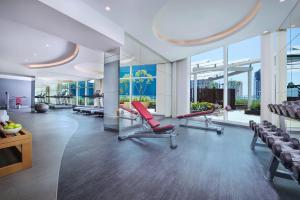 The fitness center and/or fitness facilities at DAMAC Maison Distinction