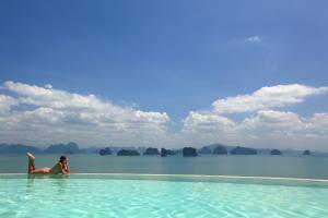 The swimming pool at or close to Six Senses Yao Noi