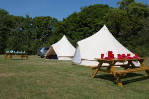 A garden outside Herston Caravan & Camping