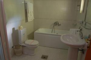 A bathroom at Hotel Makpetrol Mavrovo