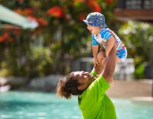 Children staying at Radisson Blu Resort Fiji