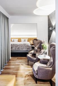 Ein Sitzbereich in der Unterkunft Seevital Hotel