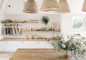 Cuisine ou kitchenette dans l'établissement The Surfrider Malibu