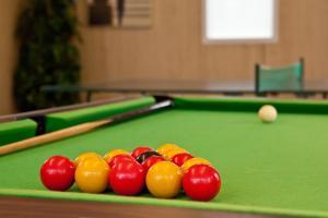 A pool table at Laguna Hotel