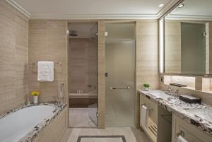 A bathroom at The Langham Chicago