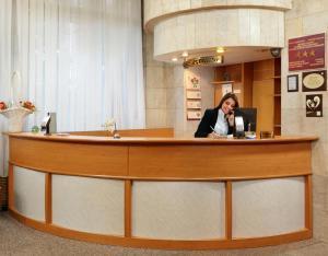 Лобби или стойка регистрации в Гостиница Октябрьская