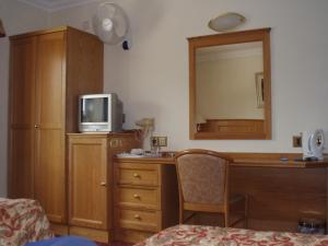 A television and/or entertainment center at Viking Hotel