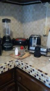 A kitchen or kitchenette at Robby's Place