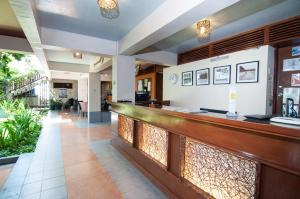 The lobby or reception area at Agos Boracay Rooms + Beds