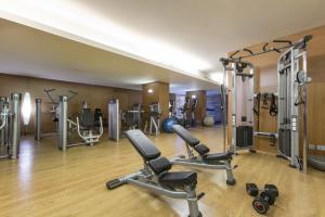 Das Fitnesscenter und/oder die Fitnesseinrichtungen in der Unterkunft Hotel SB Diagonal Zero Barcelona 4* Sup