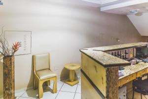 A kitchen or kitchenette at Hotel La Provence