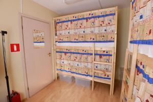 Двухъярусная кровать или двухъярусные кровати в номере Хостел Рус - Волгоградка