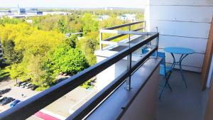 Ein Balkon oder eine Terrasse in der Unterkunft Messeapartment stylisch & citynah