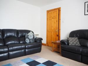 A seating area at Corbie Self Catering Shetland